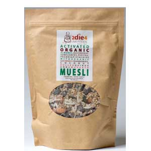 2die4 Live Foods Activated Organic Muesli
