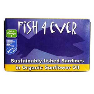 Fish 4 Ever Sardines in Organic Sunflower Oil