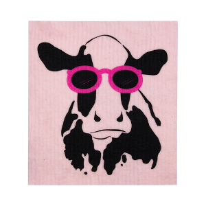 Retro Kitchen Cow Compostable Sponge Cloth