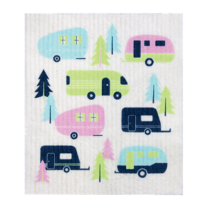 Retro Kitchen Compostable Sponge Cloth - Caravans