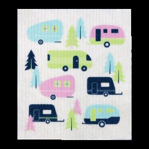 Retro Kitchen Compostable Sponge Cloth - Caravans