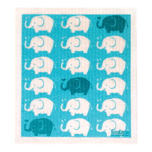 RetroKitchen Compostable Sponge Cloth - Elephants