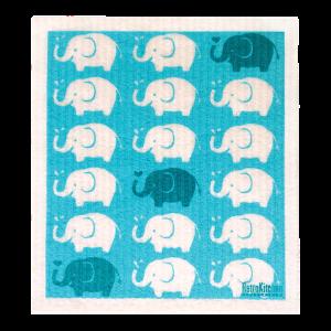 RetroKitchen Compostable Sponge Cloth - Elephants