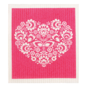 RetroKitchen Compostable Sponge Cloth - Hearts