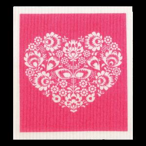 RetroKitchen Compostable Sponge Cloth - Hearts