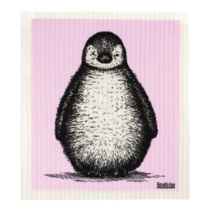RetroKitchen Compostable Sponge Cloth - Baby Penguin